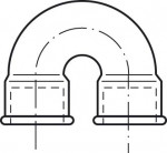 DUCTILE IRON FITTING CURVED AT 180°, FF CONNECTION  - 60N