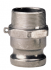 ALUMINIUM FITTING WITH ADAPTOR, MALE THREADED - 2206