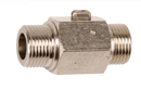 BALL VALVE Male/Male With Flat Ends, Screwdriver Handling A.C.S - REF 688