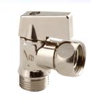 ANGLE BALL VALVE For Toilet Flush Tank Male/Female - REF 689
